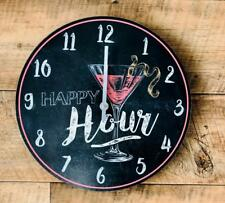 Happy Hour Colourful Cosmopolitan Cocktail Clock  CK0017-RE