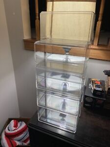 Lot of 9 Acrylic Display Cases Stackable for 1:24 DieCast Cars Nascar