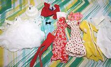 Vtg Barbie Clothes Lot 60s 70s Wedding Cake Dresses Snaps Red White  -JJ