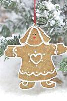 Gisela Graham Navidad Resina Hombre De Jengibre Niño Niña Decoración