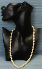 Vintage Necklace Medium Sized Faux Pearls Hand Threaded Creamy Colour VGC 78