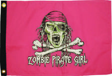 12x18 Zombie Girl Pirate Flag 2-Sided Nylon WaterProof New