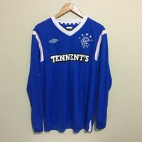 Rangers Football Umbro Long Sleeve Jersey Home 2011/12 Shirt Mens Large