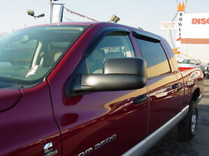 2006 - 2009 Dodge Ram Mega Cab Wind Deflectors Tape-on
