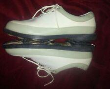 LikeNew_Women's ADIDAS Golf Shoes_Size 9 1/2_Off-White & Pastel Green_FitFoam
