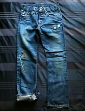 "Double RL RRL Slim Bootcut Repaired ""Candy Cane"" Selvedge Jeans 30 waist"