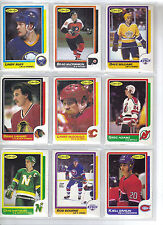 Lot of 20 Different 86-87 OPC O-Pee-Chee Cards **U-Pick** Complete Your Set