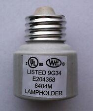 Porcelain Medium Base Light Bulb Extension E26 Base Socket Extender L2005F