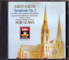 Seiji OZAWA: SAINT-SAENS Symphony No.3 Organ Phaeton Le Rouet d'Omphale EMI CD