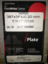50 Glunz Jensen iPlate Offset Print PlateWriter 15 1/4 15 1/2 .20mm 10054053