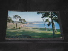 1950s Vintage 18th PEBBLE BEACH CA golf course Clean golfing Postcard NO Writing