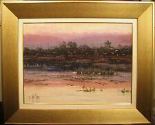 John Milenkovic original oil 'Birds of Paradise' Australia