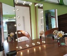 led glass dressing table mirror vanity bedroom bathroom makeup up lights large