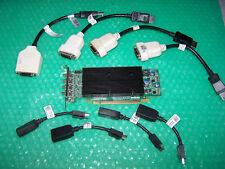 Matrox M9148 Lp 1GB PCIe x16 tarjeta de gráficos para cuatro monitores + cables