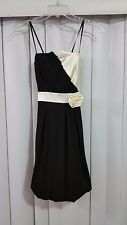 Womens City Studio Black and White Flower Formal Prom Dress Size S