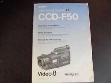 SONY CCD-F50 Instruction  HandyCam Manual