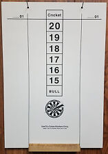 Large Dry Erase Dart Scoreboard: 22.75in. by 15.75in.: '01 OutChart Included