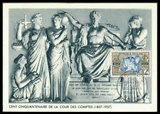 FRANCE MK 1957 RECHNUNGSHOF RELIEF SKULPTUR MAXIMUMKARTE MAXIMUM CARD MC CM dq62