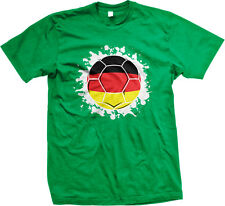 Germany Flag Soccer Ball German Deutschland Republic Team DEU DE Men's T-Shirt