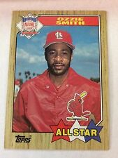 1987 Topps #598 - Ozzie Smith - St. Louis Cardinals (All Star)