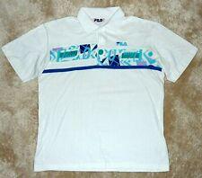 FILA Polo shirt Tennis BORIS BECKER 1990 Wimbledon vintage US L / D 52