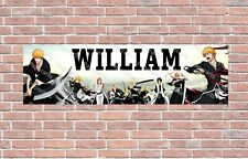 Bleach Anime Poster Personalized Customized Name Banner Birthday Wall Decor