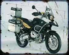BMW R1200Gs edición Leyenda Héroes,... 1 A4 Metal Sign moto antigua añejada De