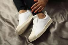 ADIDAS SUPERSTAR BW SLIP ON LEATHER WHITE OFF WHITE WOMENS TRAINERS SIZE UK 6