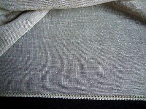 Meterware Gardinenstoff Vorhang Stoff Höhe 290 cm leicht transparent,grau,neu