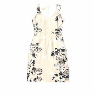 GIAMBATTISTA VALLI Floral Print Silk Shantung Dress Size XS Designer RRP $1600