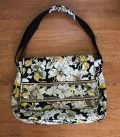 VERA BRADLEY Dogwood Messenger Laptop Tote Bag Handbag Shoulder Yellow Cream