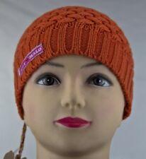 Label Muy Malo Made Holland Mütze Knitted Cap Bows Orange Kopfumfang 53-55cm