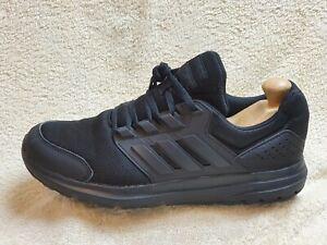 Adidas Galaxy 4 Cloudfoam mens trainers Triple Black UK 8.5 EUR 43 US 9