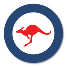 2 X AUSTRALIAN ROUNDEL CIRCLE CAR VAN LORRY VINYL SELF ADHESIVE STICKERS