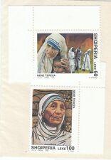 ALBANIA - Bustina 2 francobolli serie MADRE TERESA DI CALCUTTA - No. 2
