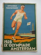 Rare book 1928 Amsterdam Olympic Games IX Olympiade Officieele Feestuitgave