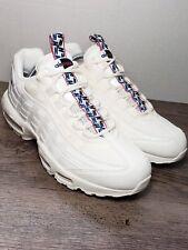 """Nike Air Max 95 TT """"Pull Tab"""" Sail Gym Blue Gym Red AJ1844 101 Men's Size 11"""