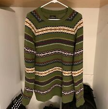 CPO Provisions Mens Green Fairisle Sweater Size Large