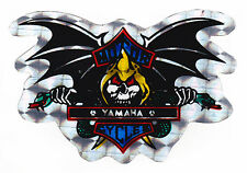 Skull & Bat Wings Yamaha Metallic Foil Sticker Motorcycles
