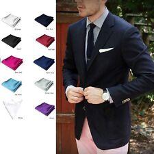 Pc Party Square Wedding Plain Satin Solid  Color Pocket Towel Handkerchief