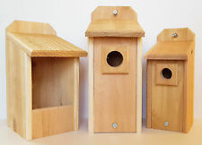 Bluebird House, Nesting Box, and Chickadee House Hand Made Natural Cedar
