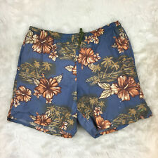 Speedo Men's Floral Tropical Blue Swim Trunks Shorts Size Medium