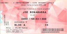 ticket billet place concert used JOE BONAMASSA 2014 Lyon FRANCE