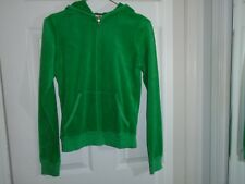 Juicy Couture Green Terry Cloth Hoodie Junior's Size Medium
