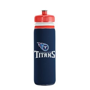 LOT OF TWO (2) TENNESSEE TITANS 22oz SQUEEZABLE PLASTIC WATER BOTTLES (CLOSEOUT)
