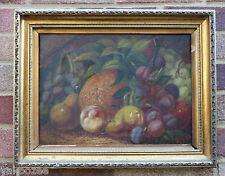 Un olio su tela dipinto RAFFIGURANTE FRUTTA