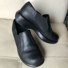 Dansko Professionals Black Leather Clogs Slip On Shoes Women's EU 39