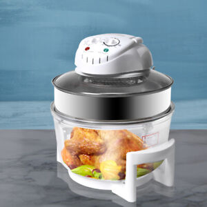 17L Turbo Convection Oven Halogen Cooker Low Fat Electric  Air Fryer White