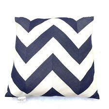 Frontgate Elaine Smith Nautical Stripe Indoor Outdoor Throw Pillow Navy Ivory