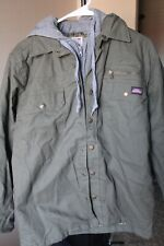 Men's Dickies Green Lined Jacket With Gray Hood Size Small (34-36)